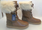 Ugg Women's Waterproof Leather Boots F27017g Women's Size7 Brown Chesnut New