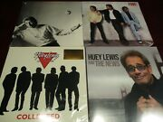 Huey Lewis And The News Hits Low 18 Set+fore And Small World Chrysalis Lps+new Lp
