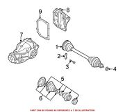 For Bmw Genuine Drive Axle Assembly Rear 33107567993