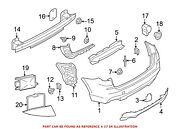 For Bmw Genuine Parking Aid Sensor Rear Outer 66207850470