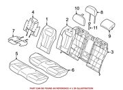 For Bmw Genuine Seat Back Cover Rear Left 52207413353