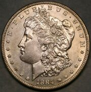 1884 S Morgan Silver Dollar Very Appealing Bold Sharp Features Scarce Tough Date
