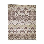 8and0391x10and039 Ikat Tribal And Geometric Design Pure Wool Hand Knotted Rug R44526