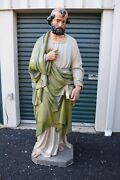 + Large Older Plaster Statue Of St. Peter + 73 Ht. 6and039-1+ Chalice Co. Cu306