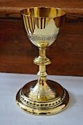 + Classic Antique Gothic Chalice + Cup Sterling + 8 5/8 Ht. + Cu559