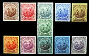 Barbados 1916 To 3/- Sg181 To 191 1d And 3d Have Small/faults Nm741