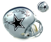 Aikman, Irvin And Smith Signed/autographed Dallas Cowboys Riddell Full Sz Helmet