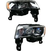 Headlight For 2017-2019 Jeep Grand Cherokee Driver And Passenger Side