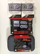 Nintendo Snes Classic Edition Mini With Wireless Controllers And Case