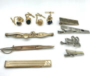 Vintage Tie Tack Clasp Mixed Lot 11 Pieces Swank Anson Tigers Eye Agate Sword
