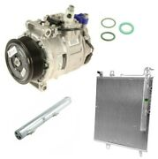 Custom Kit A/c Compressor With Clutch And 3 O-rings And Condenser For Mercedes