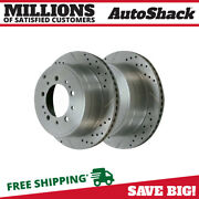 Rear Drilled Slotted Disc Brake Rotors Pair 2 For Toyota Tundra Sequoia 5.7l V8