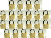 Master Lock Solid Brass 175, Lot Of 21 Set To Your Own Combination Padlock