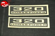 Chevy 320 Horsepower Black And Gold Valve Cover Decals Pair