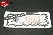 Chevy 396 350 Horsepower Valve Cover Air Cleaner Decal