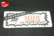 Chevy 396 325 Horsepower Valve Cover Air Cleaner Decal