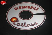 65-66 Oldsmobile Cutlass Air Cleaner Filter Lid Cover Decal Graphick 11 Silver