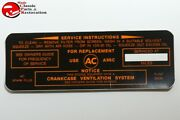 63 64 Pontiac Air Cleaner Service Instructions Decal Filter A96c