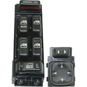 New Kit Power Window Switch Front Driver Left Side Black For Chevy Avalanche Lh
