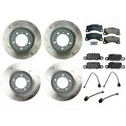 For Porsche Panamera Complete Front And Rear Disc Brake Rotors Pad Set And Sensors