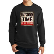 Playstation Time Do Not Disturb Ps2 Ps3 Gamer Warning Sign Sweatshirt Hoodie