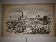 Fortress Monroe Virginia Wounded Soliders Hospital Civil War 1896 Sketch