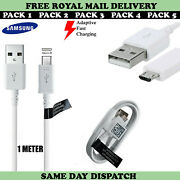 Genuine Samsung Ep-dg925 Fast Micro Usb Charger Cable Lead For Galaxy Phones Lot
