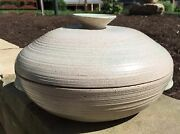 Early Vivika And Otto Heino Huge Stoneware Covered Vessel Signed Dated 1951