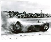 Bill Vukovich Fatal Fire And Smoke Accident 1955 Indy 500 8 X 10 Photo