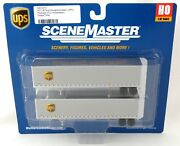 Ho Scale 45' Stoughton Trailers 2-pk - Ups New Shield - Walthers 949-2213