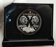 1972 Jamaica 10th Independence Proof Silver 10 Dollars Case Gift Box Coin I76334