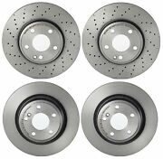 Brembo Front Rear Coated Brake Disc Rotors Kit For Mb C117 Cla250 With Code 660