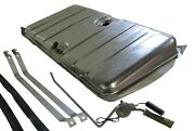 67 68 Camaro And Firebird Stainless Steel Gas Tank W/2 Line Sending Unit And Straps