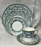 Royal Crown Derby Imperia 5pc Setting Dinner Salad Bread Butter Plate Cup Saucer