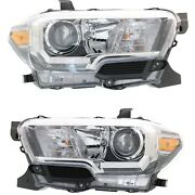 Set Of 2 Headlight For 2016-2017 Toyota Tacoma Driver And Passenger Side