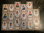 2007 Topps Allen And Ginter Dick Perez Sketch Cards 17 Card Lot Jeter, Howard