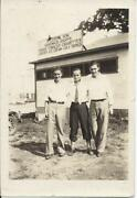 252p Vintage Photo Young Men Standing In Front Of Ellery Son Sandwich Shoppe