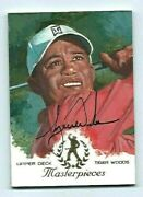 2013 Tiger Woods Master Collection Auto Golf Art Card Masterpieces 4/10