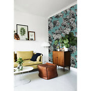 Black And White Roses Removable Wallpaper White Mural Self Adhesive Peel And Stick