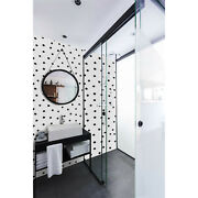Black Dots Pattern Removable Wallpaper White Mural Self Adhesive Peel And Stick