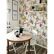 Cocoa Fruits Removable Wallpaper White Mural Self Adhesive Peel And Stick