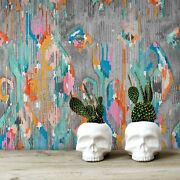 Graffiti Abstract Removable Wallpaper White Mural Self Adhesive Peel And Stick