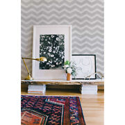 Black And White Zigzag Removable Wallpaper Decor Peel And Stick Wall Covering Mural