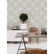 Geometric Circles Removable Wallpaper White Mural Self Adhesive Peel And Stick