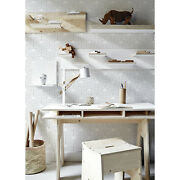 Abstract Geometry Triangles Wallpaper White Mural Self Adhesive Peel And Stick