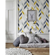 Colorful Lines Removable Wallpaper White Mural Self Adhesive Peel And Stick