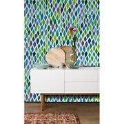 Colorful Eye Removable Wallpaper White Mural Self Adhesive Peel And Stick
