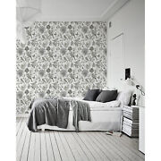Birds Sketch Removable Wallpaper White Mural Self Adhesive Peel And Stick