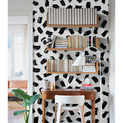 Black And White Abstract Removable Wallpaper Peel And Stick Home Decor