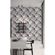 Hand Drawn Birds Removable Wallpaper White Wall Mural Self Adhesive Peel And Stick